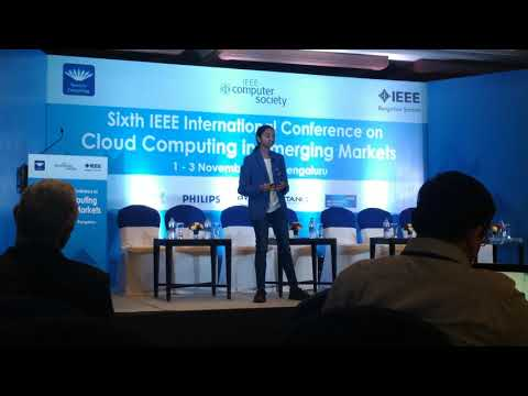 Key note by Sahithi Pingali at IEEE International Conference on Cloud Computing for Emerging Markets