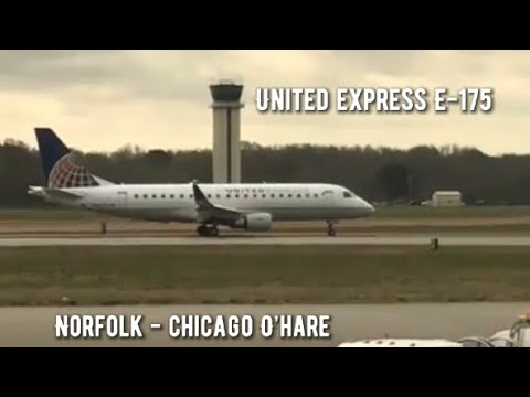 Norfolk(ORF) to Chicago(ORD)✈️Full Flight✈️United Airlines✈️ERJ-175✈️