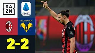 Ibrahimovic rettet Punkt: AC Mailand - Hellas Verona 2:2 | Serie A | DAZN Highlights