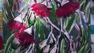 EUCALYPTUS BLOSSOMS/ GUM Flowers Acrylic Painting By HSIN LIN, H,Lin The Artist