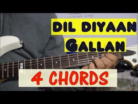 Dil Diyan Gallan Guitar Chords Lesson   Atif Aslam (Tiger Zinda Hai)