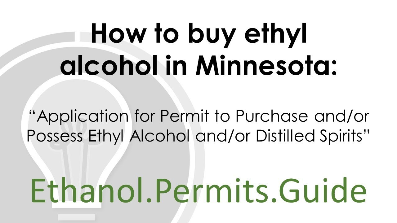 How to buy ethyl alcohol in Minnesota - Application for