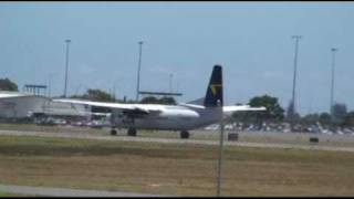 Alliance Airlines Fokker 50 at Adelaide Airport