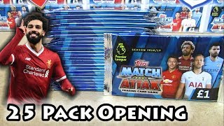 Opening 25 Match Attax 18/19 Packs | Half A Booster Box | Search For The 101 Salah