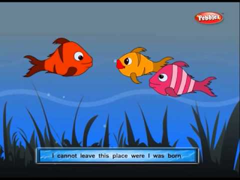 Gujarati Stories For Kids  Panchatantra Gujarati Stories 02  Three Fishes  Lucky Fish
