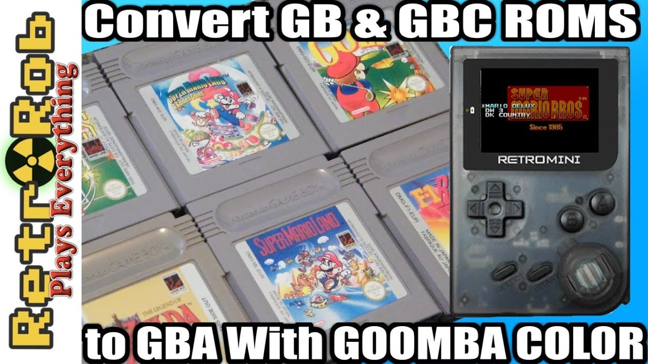 How to Convert Gameboy and Gameboy Color Roms to GBA with Goomba Color