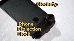 Clockety: Projection Clock Using iPhone Flash LED