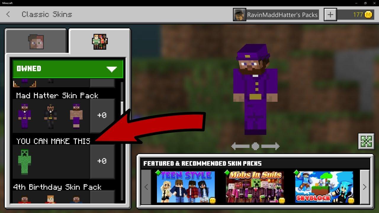 Minecraft Bedrock Skin: Pack Maker