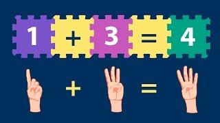 Como somar os números - vídeo educativo infantil
