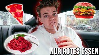 Nur ROTE Produkte Essen für 24 STUNDEN..