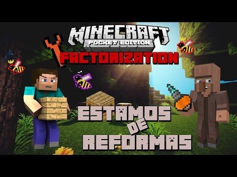 Minecraft PE com Mods FACTORIZATION #10 Reforma na industria