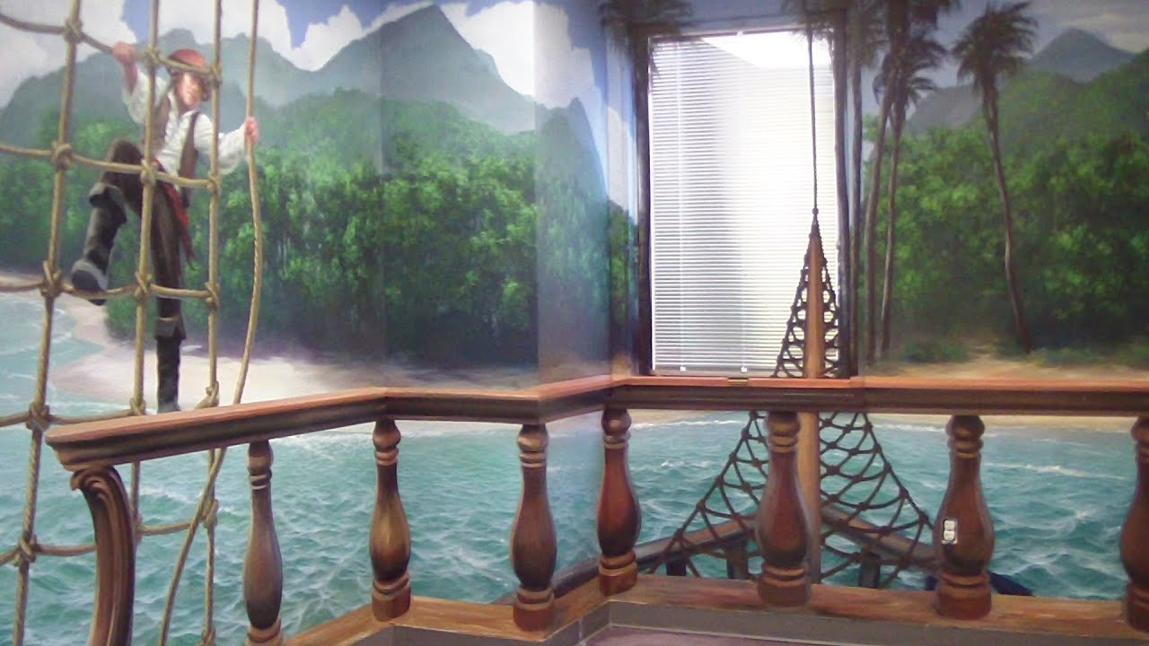 Feature Wall Wallpaper 3d Pirate Ship Mural Pt 1 Youtube