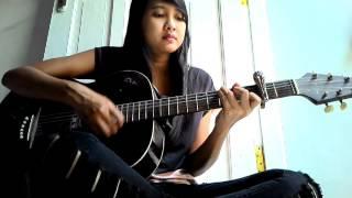 Gambar cover Cewek cantik nyanyi lagu BARA band,,, hampir putus asa ....cover gitar
