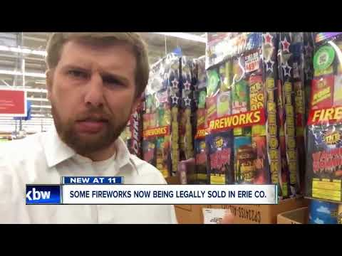 Why are fireworks being sold in Erie County?