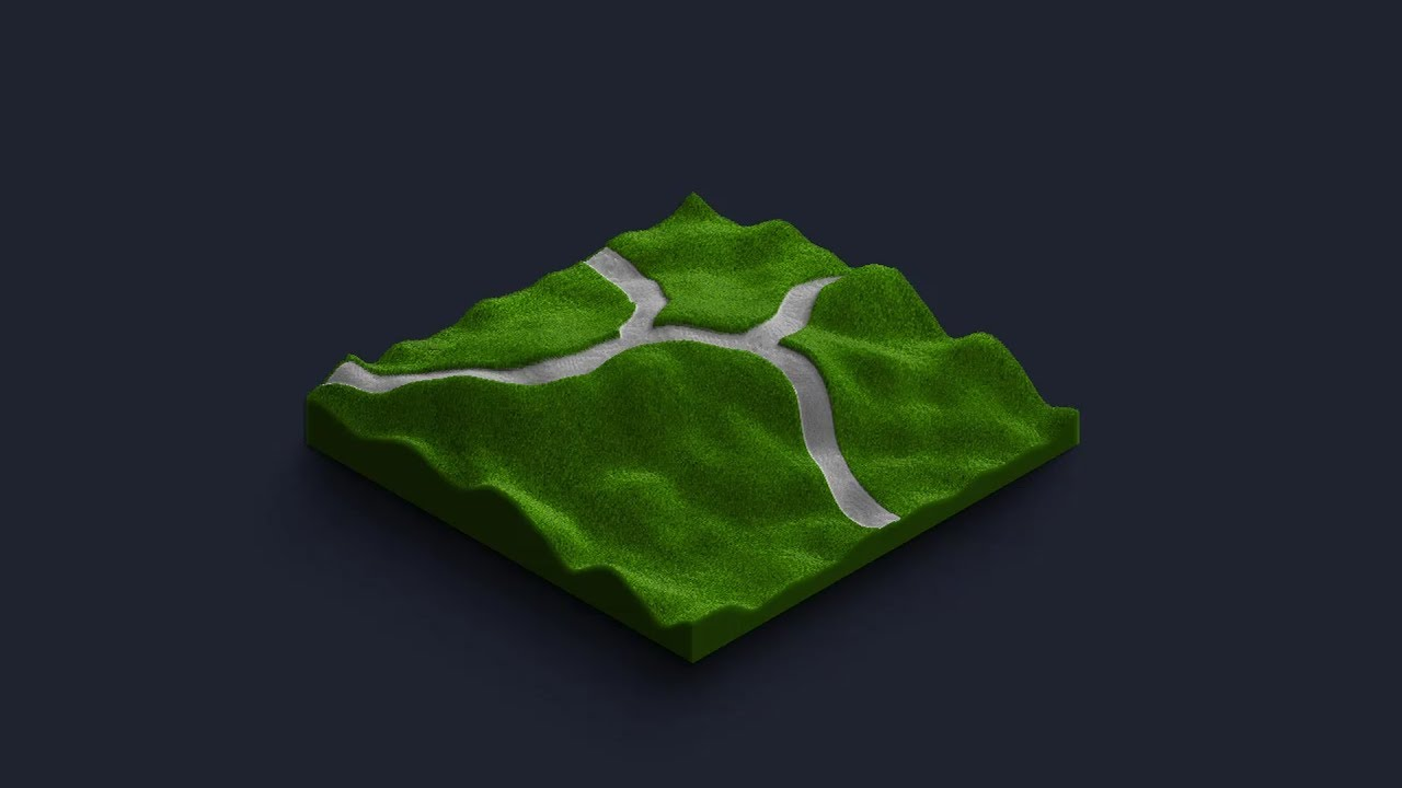 How to empress a road into 3D map - 3D Map Generator - Terrain