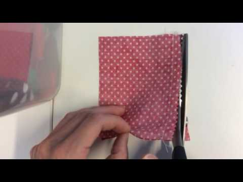 Pinked seam finish