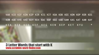 3 letter words that start with K