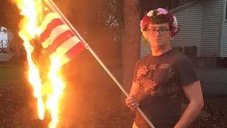 Police Arrest Facebook Flag Burner, Ignore Death Threats Against Him