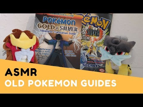 ASMR Pokemon Gold and Silver Vintage Guide Books Flip Through