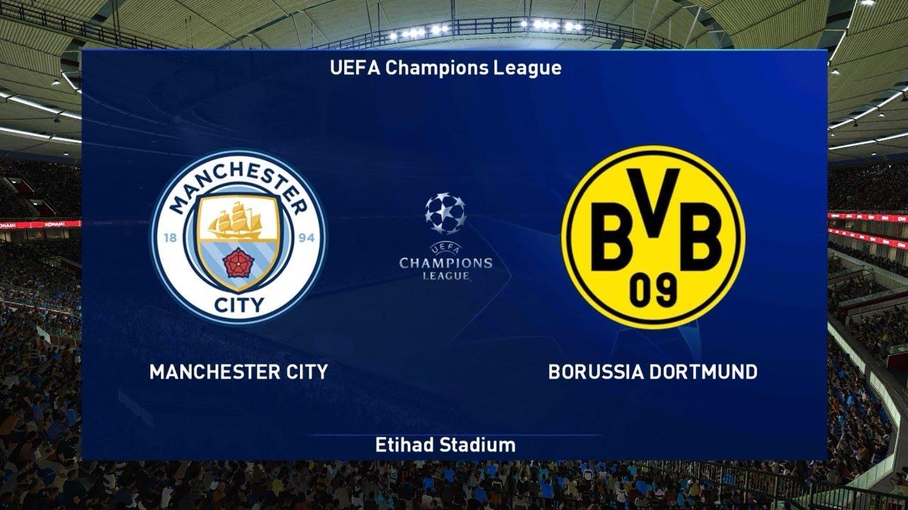 Manchester City vs Borussia Dortmund | UEFA Champions League 2021 | PES  2021 Gameplay PC - YouTube