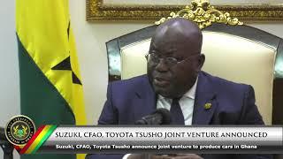 Suzuki, CFAO, Toyota Tsusho Joint Venture Anniversary
