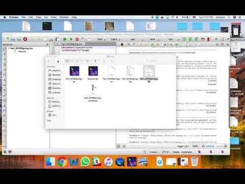 Transfer Tex To PDF Tutorial For Mac (easy)