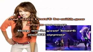 Miley Cyrus Right Here Karaoke (HD)
