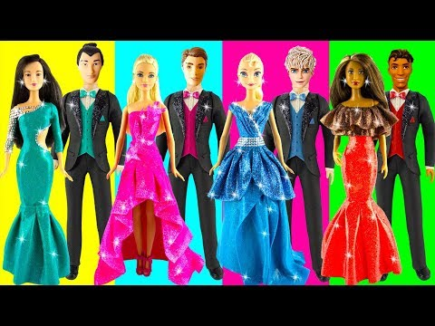 Play doh disney princess dresses Elsa Jack Aurora Phillip Tiana Naveen Mulan Shang play doh videos