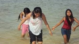 New Couple Enjoy hot sun Bathing At Sea Beach in digha