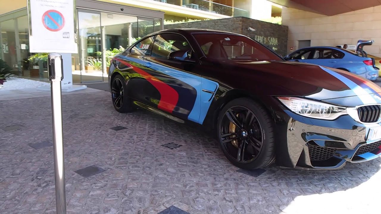 2015 Bmw M4 Coupe In Black And M Stripes Youtube