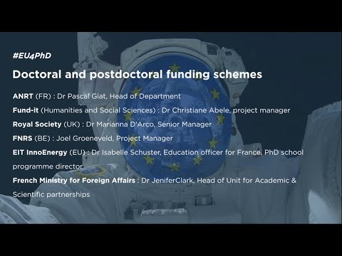 DOCTORAL AND POSTDOCTORAL FUNDING SCHEMES #EU4PHD [Dec, 12th]