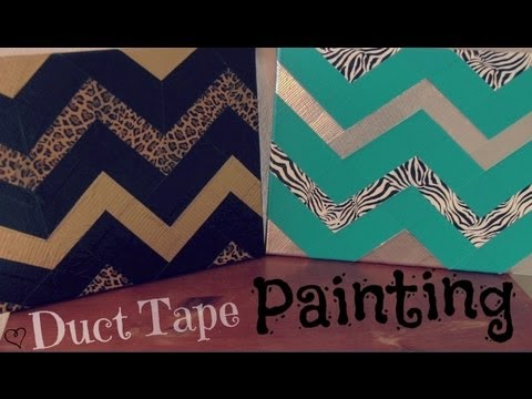 DIY DUCT TAPE PAINTING : Zig Zag & Chevron - How To | SoCraftastic ...