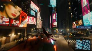 Spider-Man PS4 -Free Roam Times Square Night Time   Fictional Billboards Showcase
