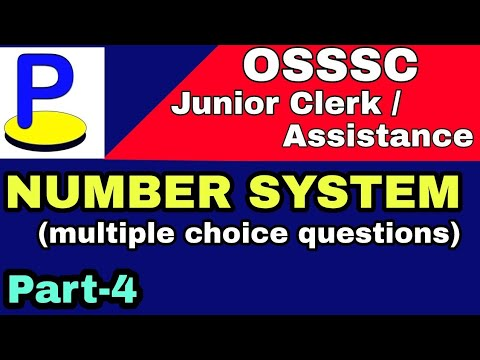 osssc junior clerk mathematics class -4 I Number System I multiple choice  questions I odia