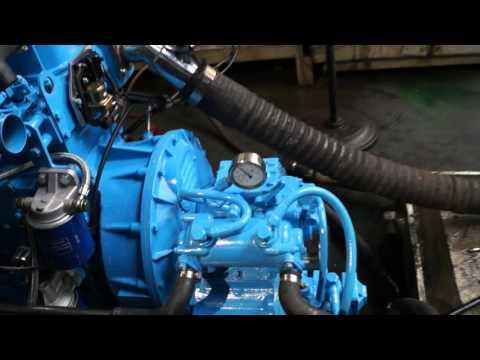 4108 Marine Diesel Engine running video