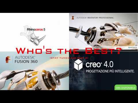 3D CAD Battle: Rhino vs Fusion vs Creo vs Inventor - Part1