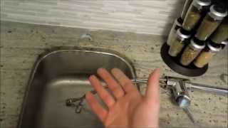 How to easily change a sink faucet or tap in kitchen or bathroom