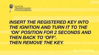 how to program toyota remote