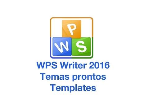 WPS writer Templates - temas prontos para digitação - YouTube