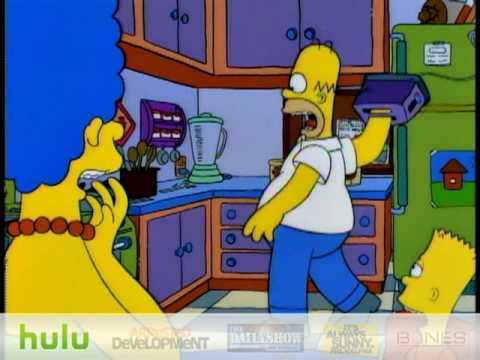 """The Simpsons - Hand In Toaster - Homer gets his hand stuck in a toaster. Season 6: Episode 6.  """"Treehouse of Horror V"""""""
