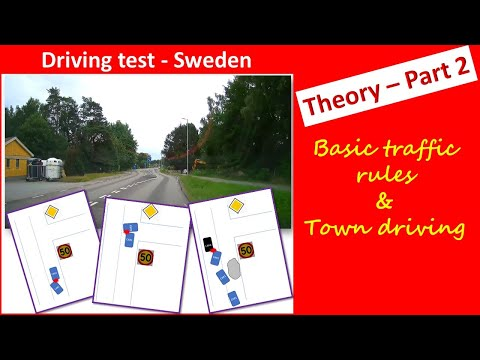 How to pass driving test in Sweden -Theory Part2 || In English