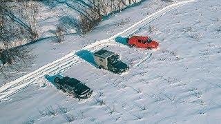 УАЗ рвет Тойоты на снежном поле! Баттл года!