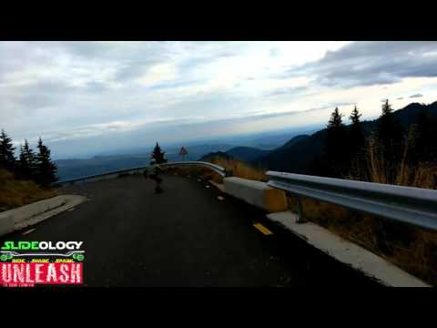 Downhill longboarding on Trans Bucegi Romania 2015 Piatra Arsa