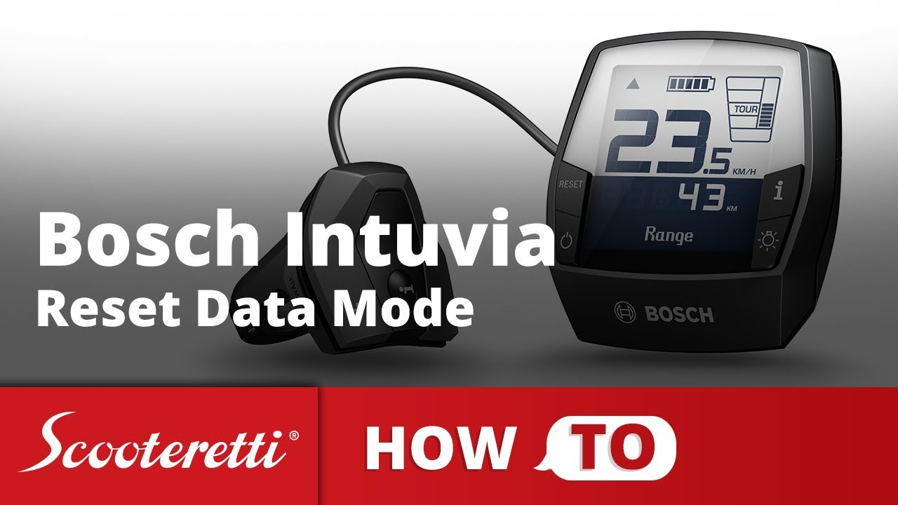 Bosch Intuvia Reset Data Mode - How To Series - Самые лучшие видео