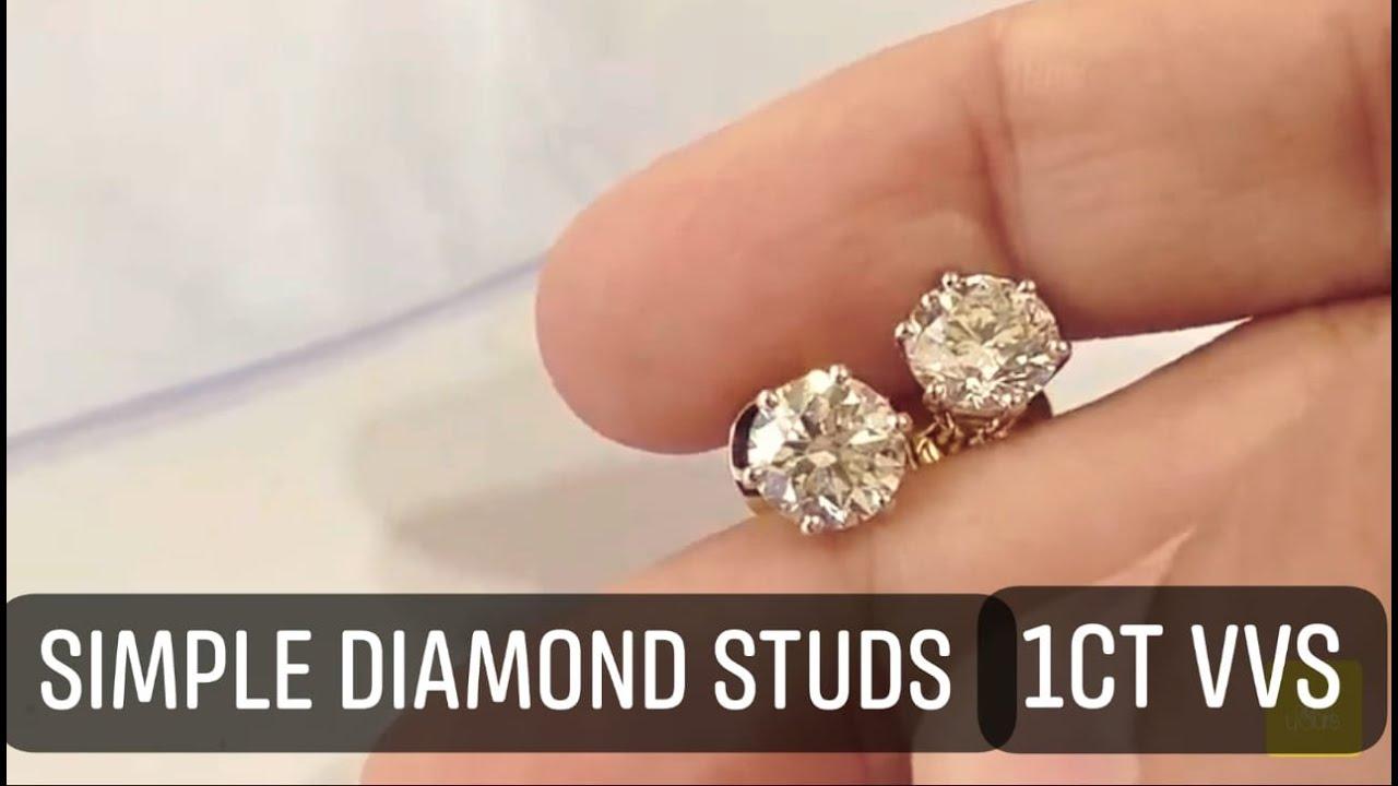 Simple diamond studs of 1ct VVS quality
