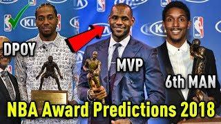 NBA Award Predictions 2017-2018! (Season Preview)