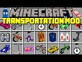 Minecraft TRANSPORTATION MOD!   TRAVEL WITH HOVERBOARDS, SWEGWAYS, & MORE!   Modded Mini-Game