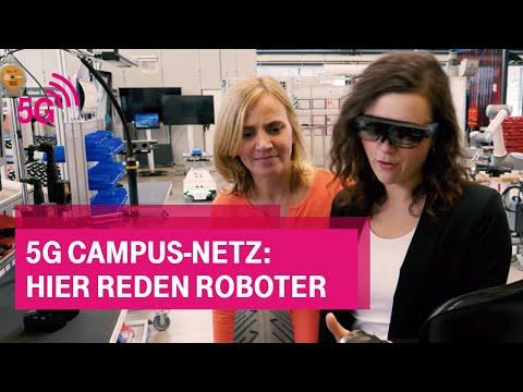 Social Media Post: 5G Campus-Netz: Hier reden Roboter