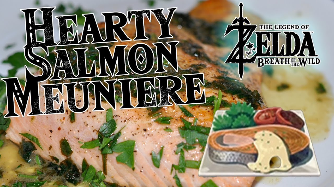Hearty salmon meuniere cooking from the legend of zelda breath hearty salmon meuniere cooking from the legend of zelda breath of the wild gamer food forumfinder Images