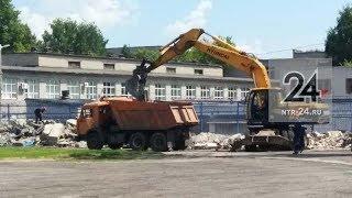 В Нижнекамске началась реконструкция стадиона «Нефтехимик»